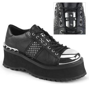 Vegan 7 cm GRAVEDIGGER-02 Platå Goth Skor för Män
