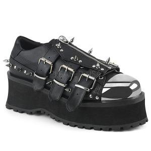 Vegan 7 cm GRAVEDIGGER-03 Platå Goth Skor för Män