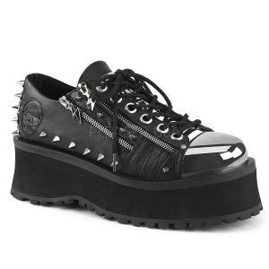 Vegan 7 cm GRAVEDIGGER-04 Platå Goth Skor för Män