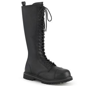 Vegan läder RIOT-20 ståltå stövlar - demonia militära stövlar