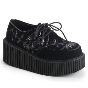 Velvet 7,5 cm CREEPER-219 creepers shoes women gothic platform shoes