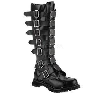 Äkta läder RIOT-21MP ståltå stövlar - demonia militära stövlar