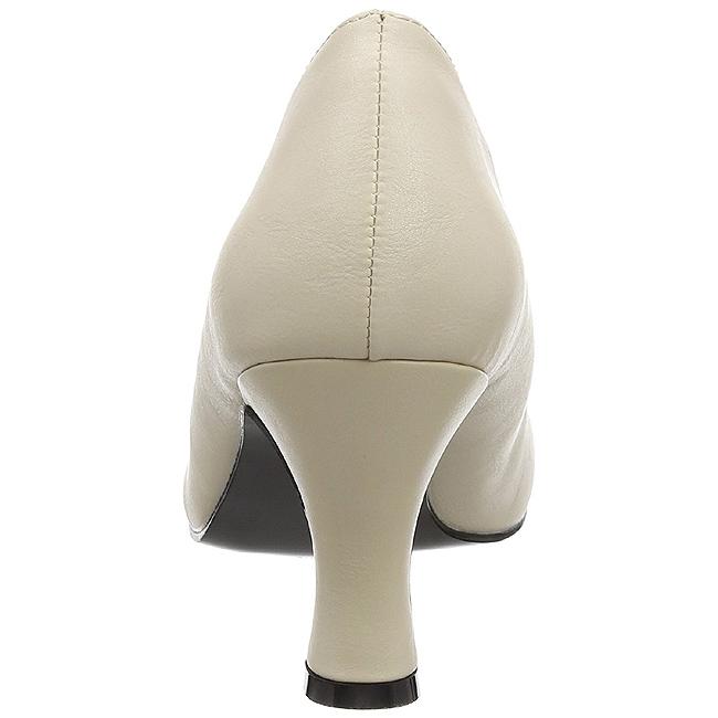 Svart Konstläder 7,5 cm JENNA 01 stora storlekar pumps skor