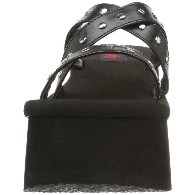 046ff3cd6aaf Black 9 cm FUNN-19 Goth Platform Sandals Womens