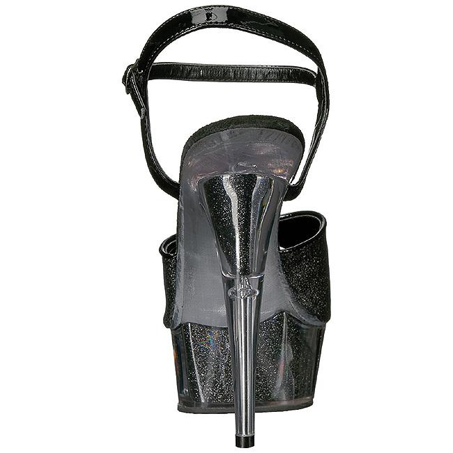5c1e33bdd6a Black Glitter 15 cm DELIGHT-609-5G High Heel Platform