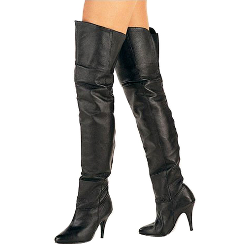660c2d367015 Black Leather LEG8868 B LE PLEASER big size Thigh High Boots for Men  travesty Boots crossdresser Over The Knee Boots