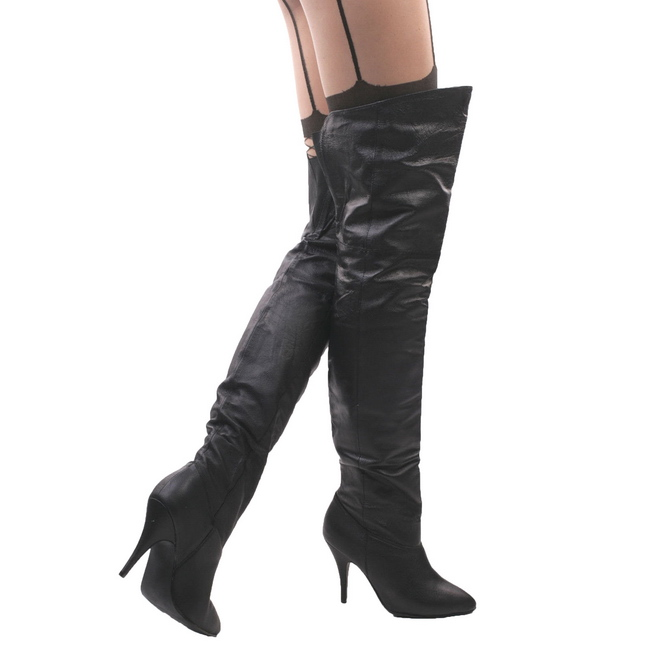 7dda573eaa09 Black Leather LEG8868 B LE PLEASER big size Thigh High Boots for Men ...