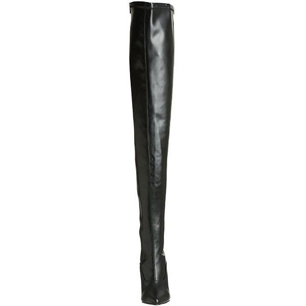 7e538496f816 Black Matte 13 cm SEDUCE-3063 Overknee Boots Flat Heels