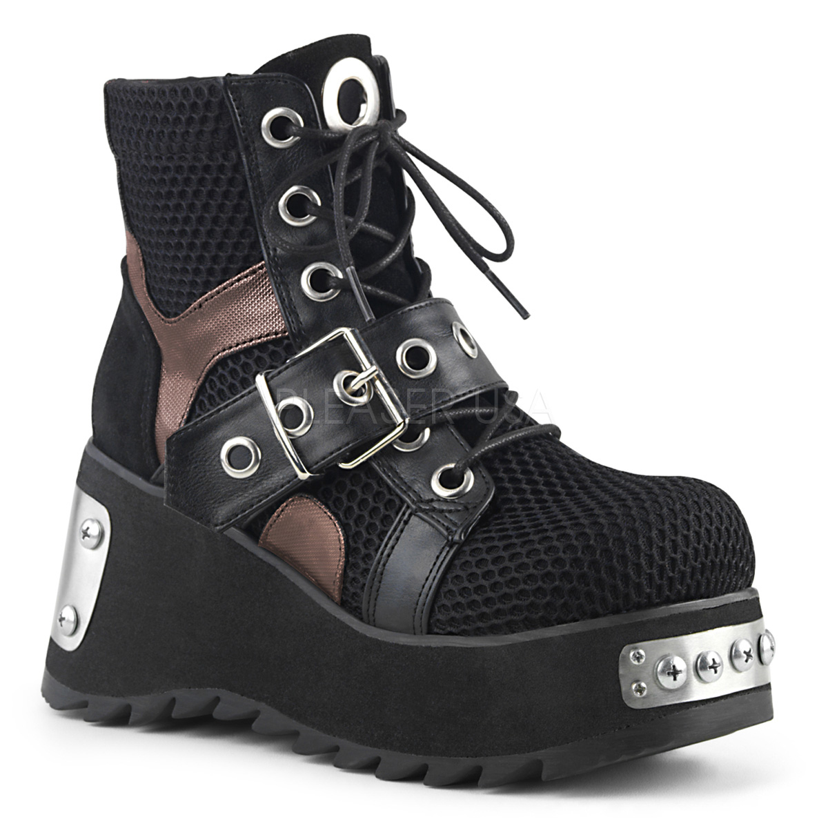 5401fde5dfd Black Vegan 9 cm SCENE-53 lolita ankle boots platform