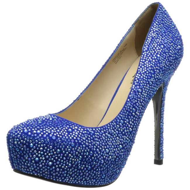 Blue Rhinestone Shoes