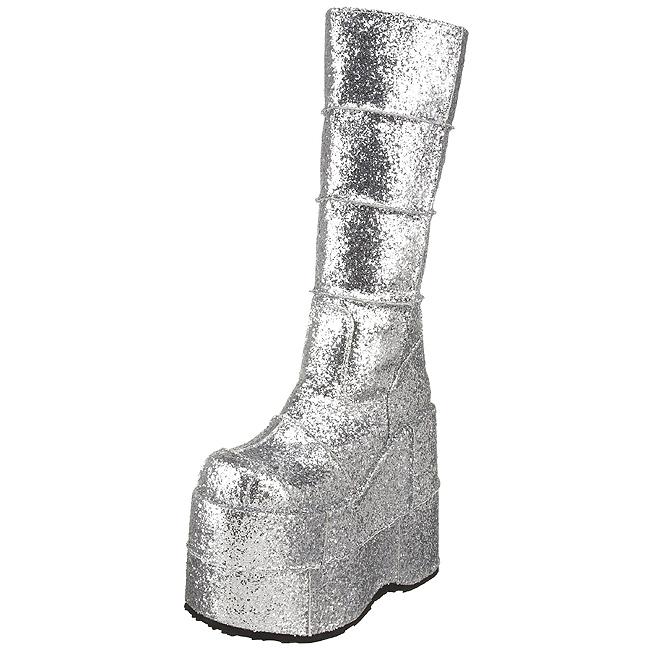 Glitter 18 cm STACK 301G Platå Goth Stövlar för Män online