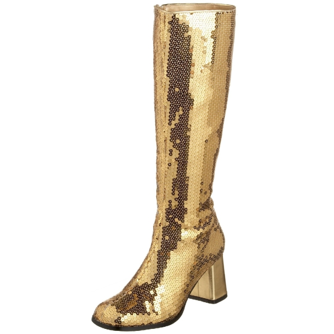 1a3156ff148 Gold Sequins SPE300SQ G BORDELLO big size Womens Boots High Heeled ...