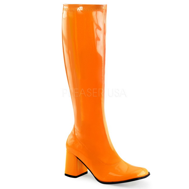 Orange Neon 8,5 cm FUNTASMA GOGO 300UV Women Knee Boots