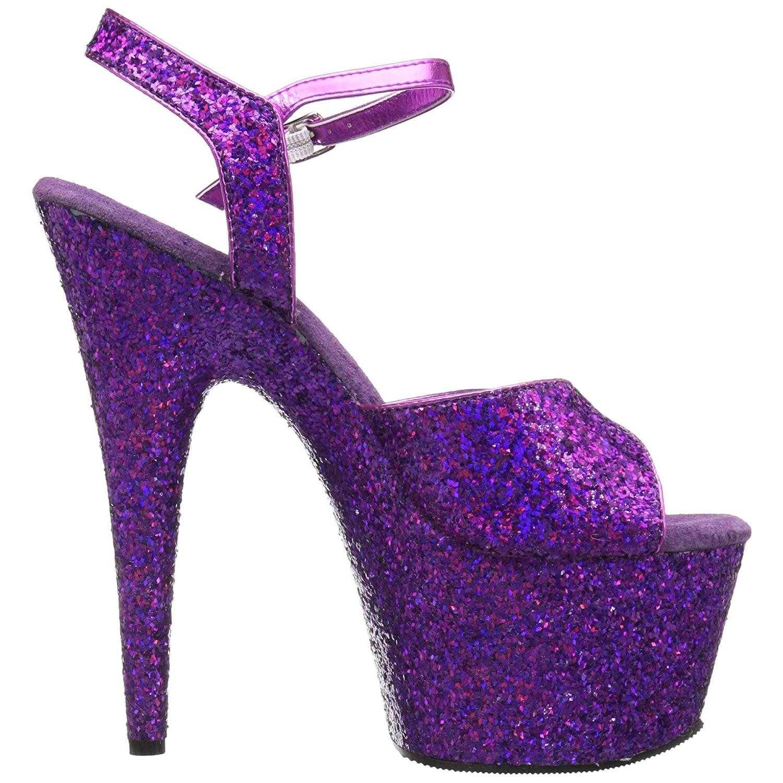 254b93b1e8e Purple 18 cm ADORE-710LG glitter platform high heels shoes