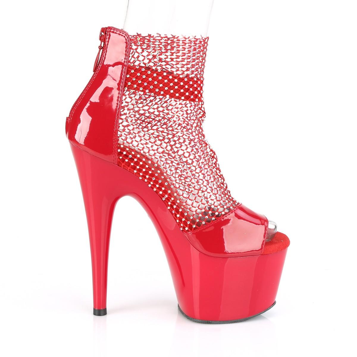 röda glittriga skor