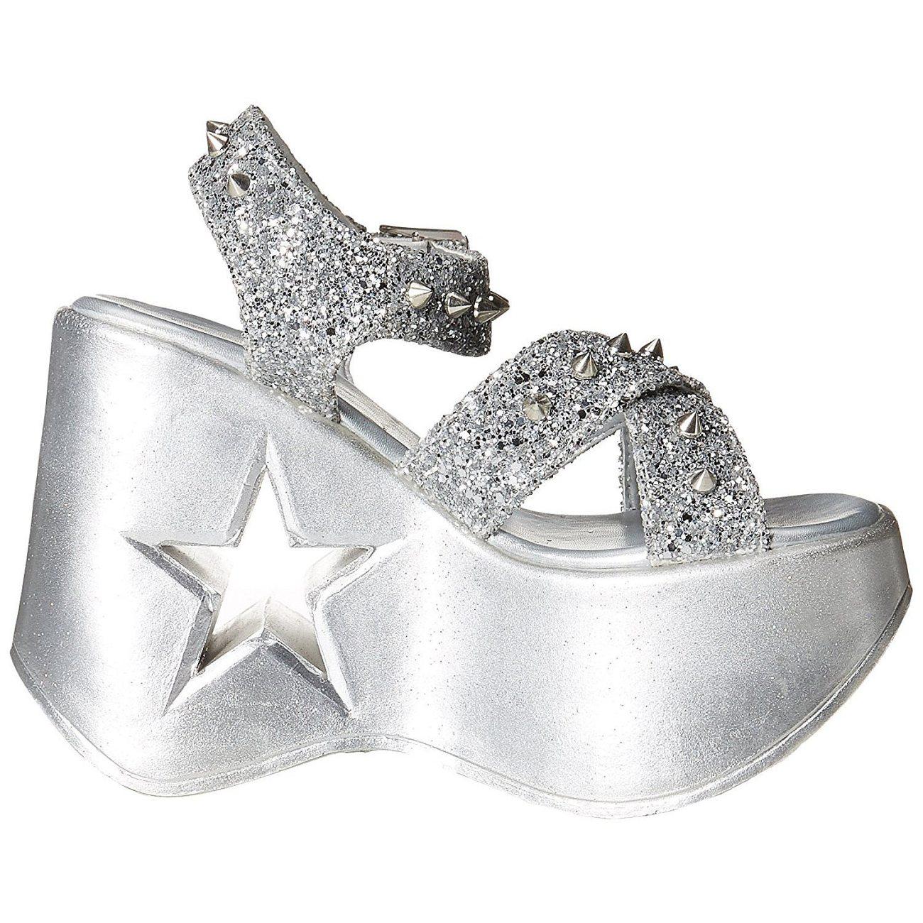 25515d4c959 Silver 13 cm Demonia DYNAMITE-02 lolita sandals wedge sandals