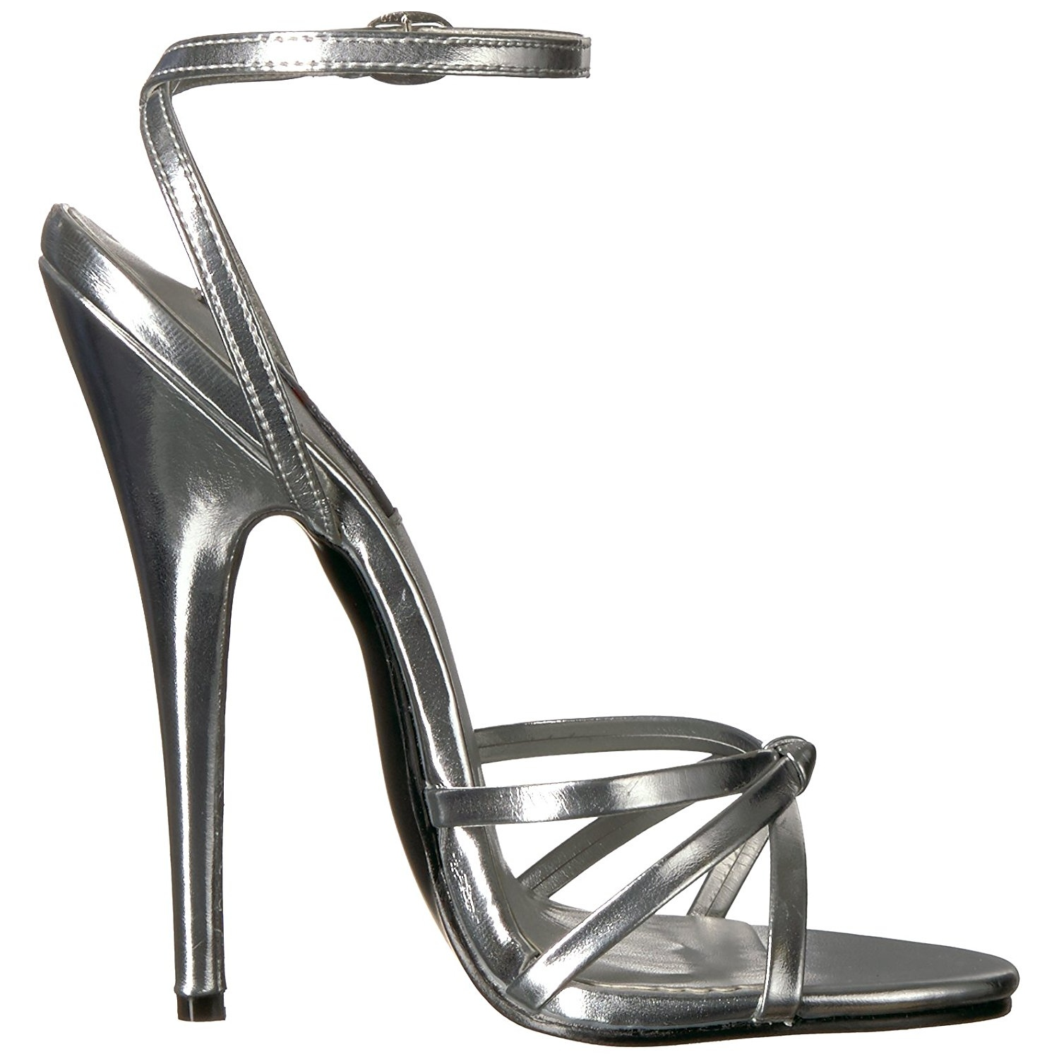 526ae21c4c7 Silver 15 cm Devious DOMINA-108 high heeled sandals