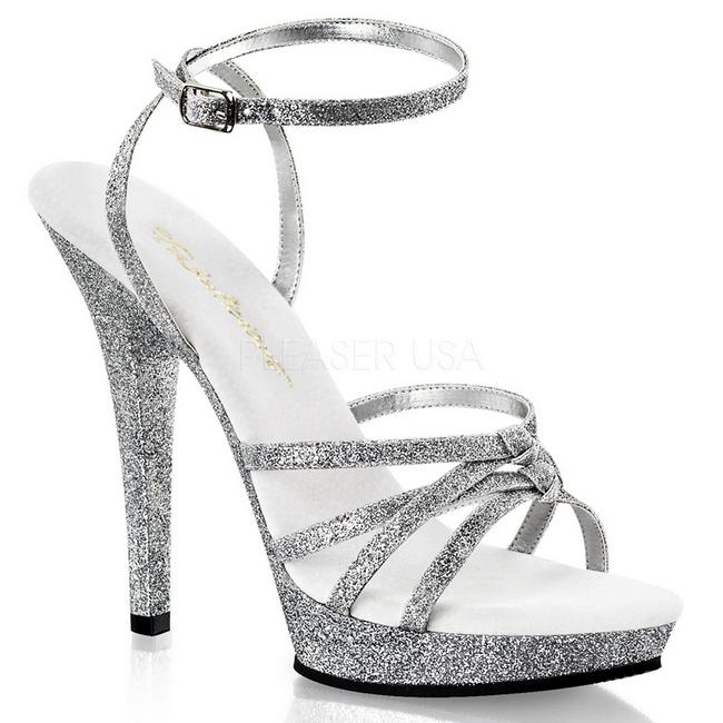 silver glittriga klackskor
