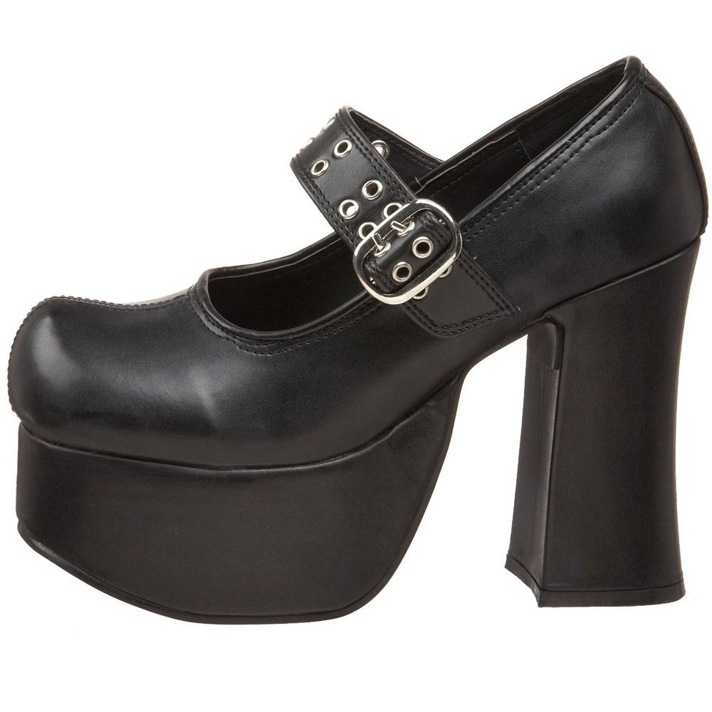 svart 11 5 cm charade 05 lolita skor goth dam plat skor. Black Bedroom Furniture Sets. Home Design Ideas