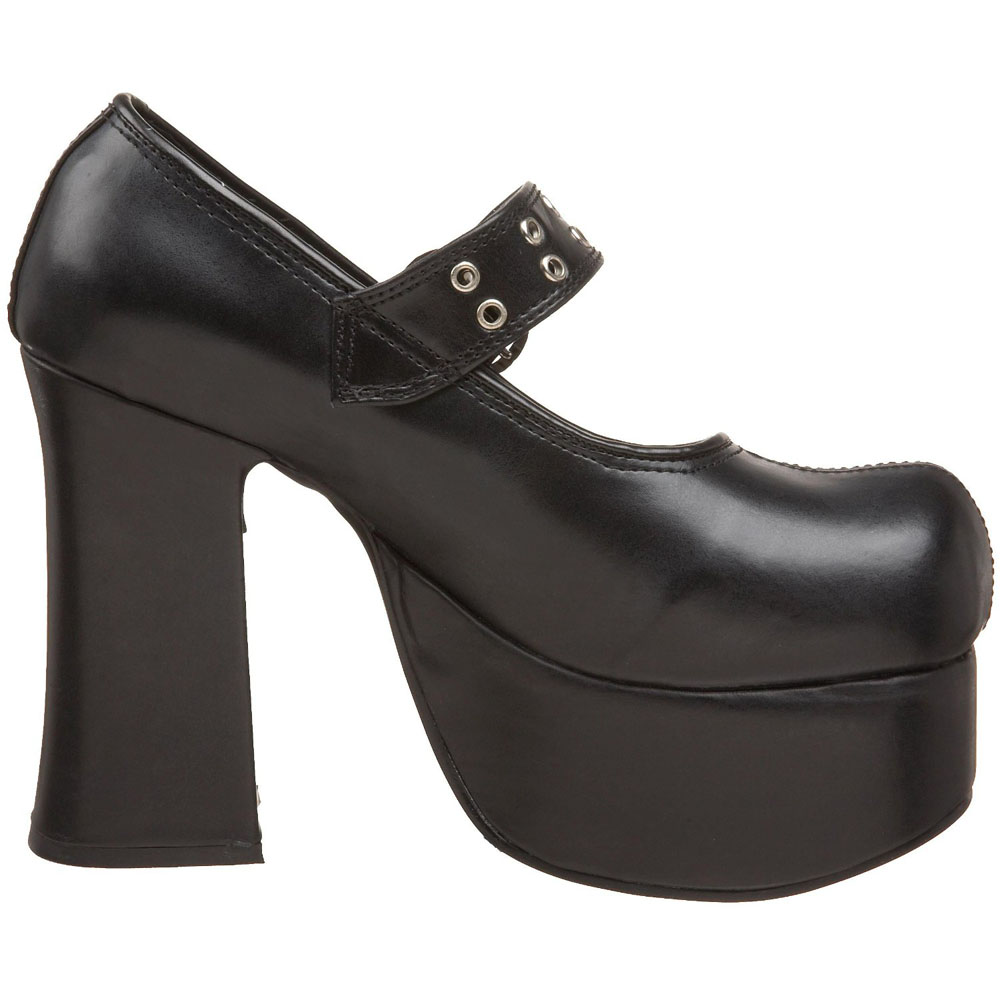 svart 11 5 cm charade 05 lolita skor goth dam plat skor med tjock sula online shop p n tet. Black Bedroom Furniture Sets. Home Design Ideas