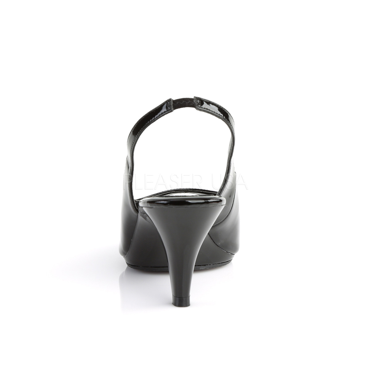 Svart Lackerade 13 cm SEDUCE 117 High Heels Sandaletter Skor