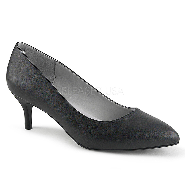 790320062ec9 Svart Konstläder 6,5 cm KITTEN-01 stora storlekar pumps skor