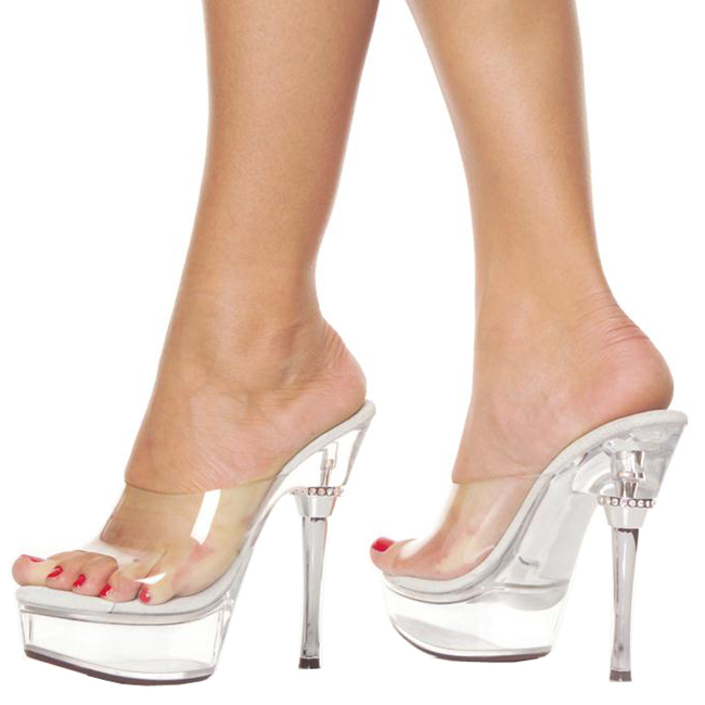 Pleaser Clear Womens Captiva 611 Z3753