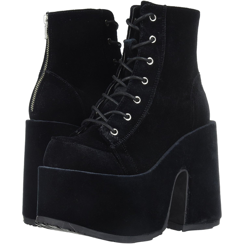 6ea0620a6b2e Velvet 13 cm DEMONIA CAMEL-203 goth ankle boots