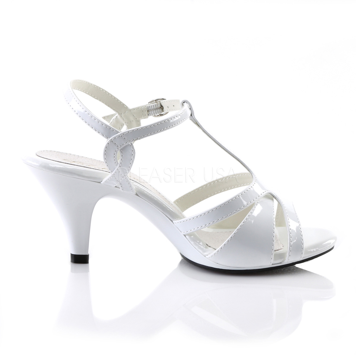 8 Sandals Belle 322 Heeled White Cm Fabulicious High v76bfYgy