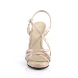 Beige 11,5 cm FLAIR-413 Fabulicious High Heeled Sandal