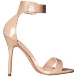 Beige 13 cm Pleaser AMUSE-10 högklackade sandaletter