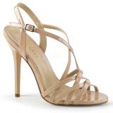 Beige 13 cm Pleaser AMUSE-13 högklackade sandaletter