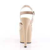Beige 18 cm ADORE-708N Platform High Heels Shoes