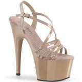 Beige 18 cm ADORE-713 pleaser stilettklack sandaler