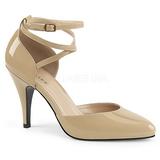 Beige Lackläder 10 cm DREAM-408 stora storlekar pumps skor