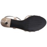 Beige Lackläder 6 cm KITTEN-06 stora storlekar sandaler dam