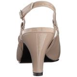 Beige Lackläder 7,5 cm DIVINE-418 stora storlekar pumps skor