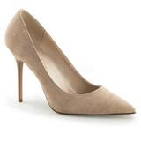 Beige Mocka 10 cm CLASSIQUE-20 stora storlekar stilettos skor