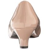 Beige Shiny 5 cm FAB-420W High Heel Pumps for Men