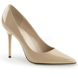 Beige Varnished 10 cm CLASSIQUE-20 Women Pumps Shoes Stiletto Heels