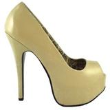 Beige Varnished 14,5 cm Burlesque TEEZE-22 Women Pumps Shoes Stiletto Heels