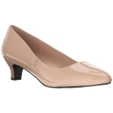 Beige Varnished 5 cm FAB-420W Pumps with low heels