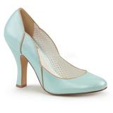 Blå 10 cm SMITTEN-04 Pinup pumps skor med låg klack
