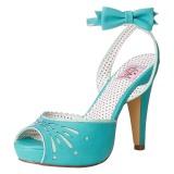 Blå 11,5 cm Pinup BETTIE-01 högklackade sandaletter