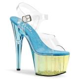 Blå 18 cm ADORE-708MCT Akryl platå klackar skor