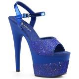 Blå 18 cm ADORE-709-2G glittriga platå sandaler skor
