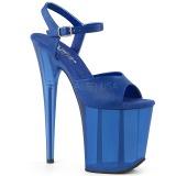 Blå 18 cm FLAMINGO-809T Akryl platå klackar skor