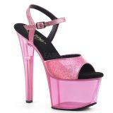 Blå 18 cm SKY-309GPT glittriga platå sandaler skor