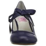 Blå 6,5 cm WIGGLE-32 Pinup pumps skor med blockklack