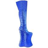 Blå Glitter 34 cm VIVACIOUS-3016 Overknee Stövlar för Drag Queen